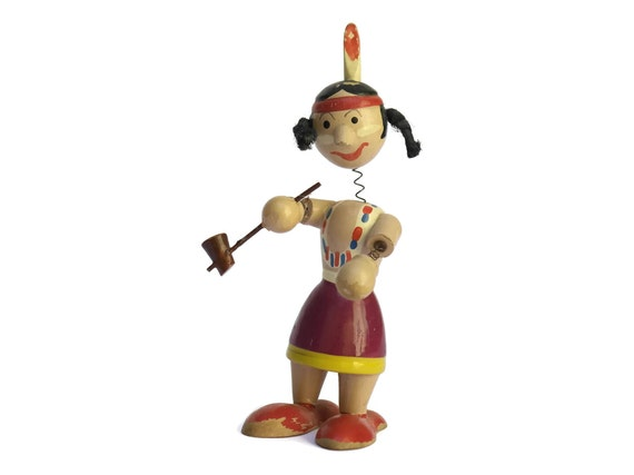 Native American with Peace Pipe Nooder Head Doll.