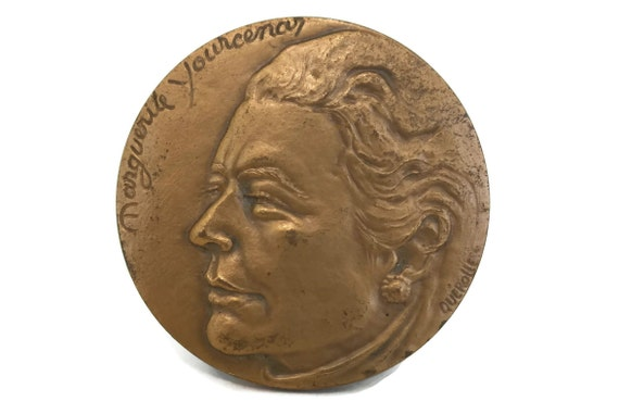 Marguerite Yourcenar Portrait Bronze Medal