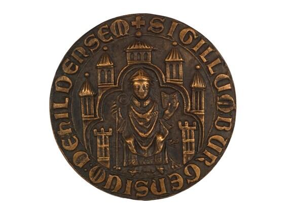 Bronze Medal Souvenir of Hildesheim, Germany,  Sigillum Burgensium Dehilersem