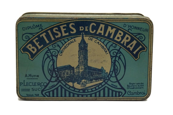French Antique Candy Tin Box