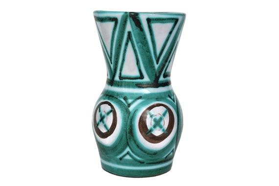Robert Picault Vallauris Pottery Vase, Mid Century Art Studio Ceramic