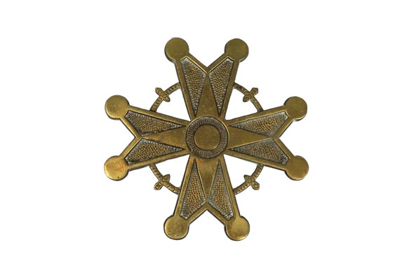 Brass Maltese Cross Wall Hanging Pendant, Vintage Christian Gifts and Decor