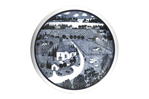 Arabia Wärtsilä Finland Annual Plate, Vintage Finnish 100 Year Commemorative Art Wall Plate