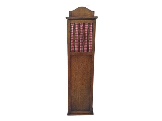 French Baguette Loaf Bread Bin, Vintage Wooden Kitchen Storage Box