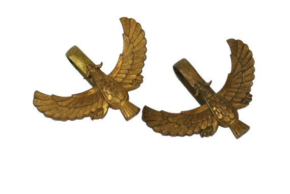 French Military Eagle Uniform Decorations, Antique Airforce Falcon Medals