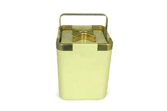Vintage Iconic Turnwald Collection International Ice Bucket. Cream and Gold 1960s Collector Ice Bucket. Hans Turnwald Design.