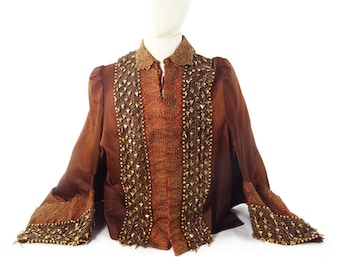 Victorian Silk Jacket, Handmade Beaded, Museum Quality,