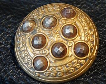 Antique Button Edwardian Victorian Large, Circa 1890