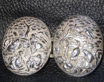 Chinese Silver Clasp,  Circa 1890 23.3 Grams