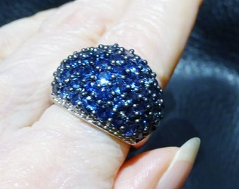 Sapphire Dome Ring, 5.18ctw Ceylon