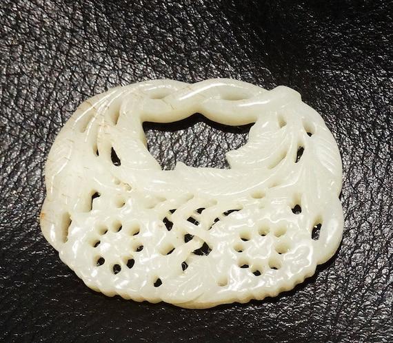 Jade Pendant Necklace, Mutton Fat, 1800s