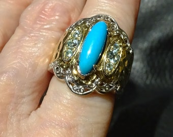 Turquoise Band Ring, Sleeping Beauty Mine