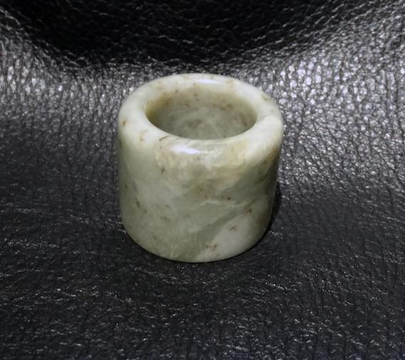 Jade Thumb Ring, Qing Dynasty Nephrite