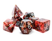 Dante 39 s Inferno Dice Set Polyhedral Dice Set Glitter Foil Dungeons and Dragons Pathfinder Role Playing Dice RPG