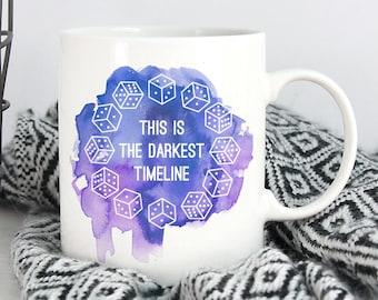 Darkest Timeline Mug   More colours   11oz White Ceramic Coffee Mug   Community   Funny Mug   Troy Abed   Gift for Geeks