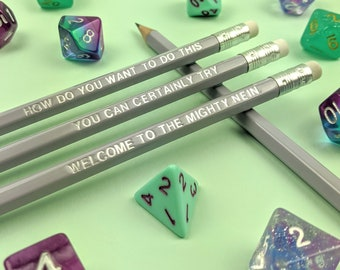 Critical Role Pencil Set   Dungeons and Dragons   RPG   DnD   Dungeon Master   Pencils   Roll for Initiative   D&D