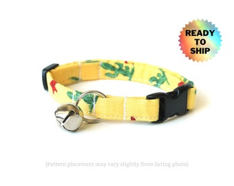 """Yellow Cactus Cat Collar 