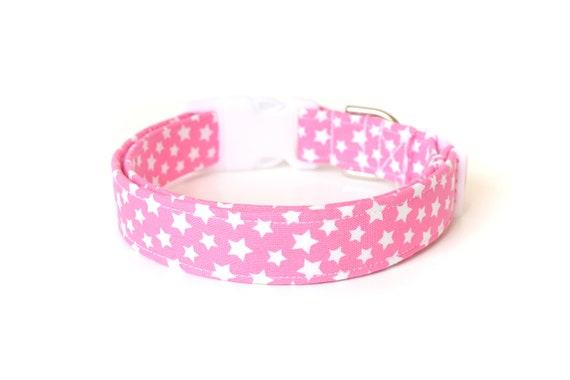 Pink Dog Collar Starry Dog Collar Designer Dog Accessories Etsy