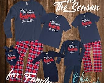 Family Christmas Pajamas - Christmas Pajamas, Matching Christmas Pajamas, Christmas Pajamas