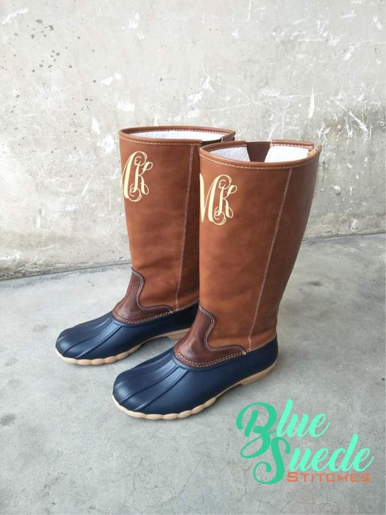 46f5ed1855ae7 Monogram Duck Boots - Tall Monogram Duck boots   Monogram Rain Boots    Monogram Rain Boots   Preppy Monogram Boots