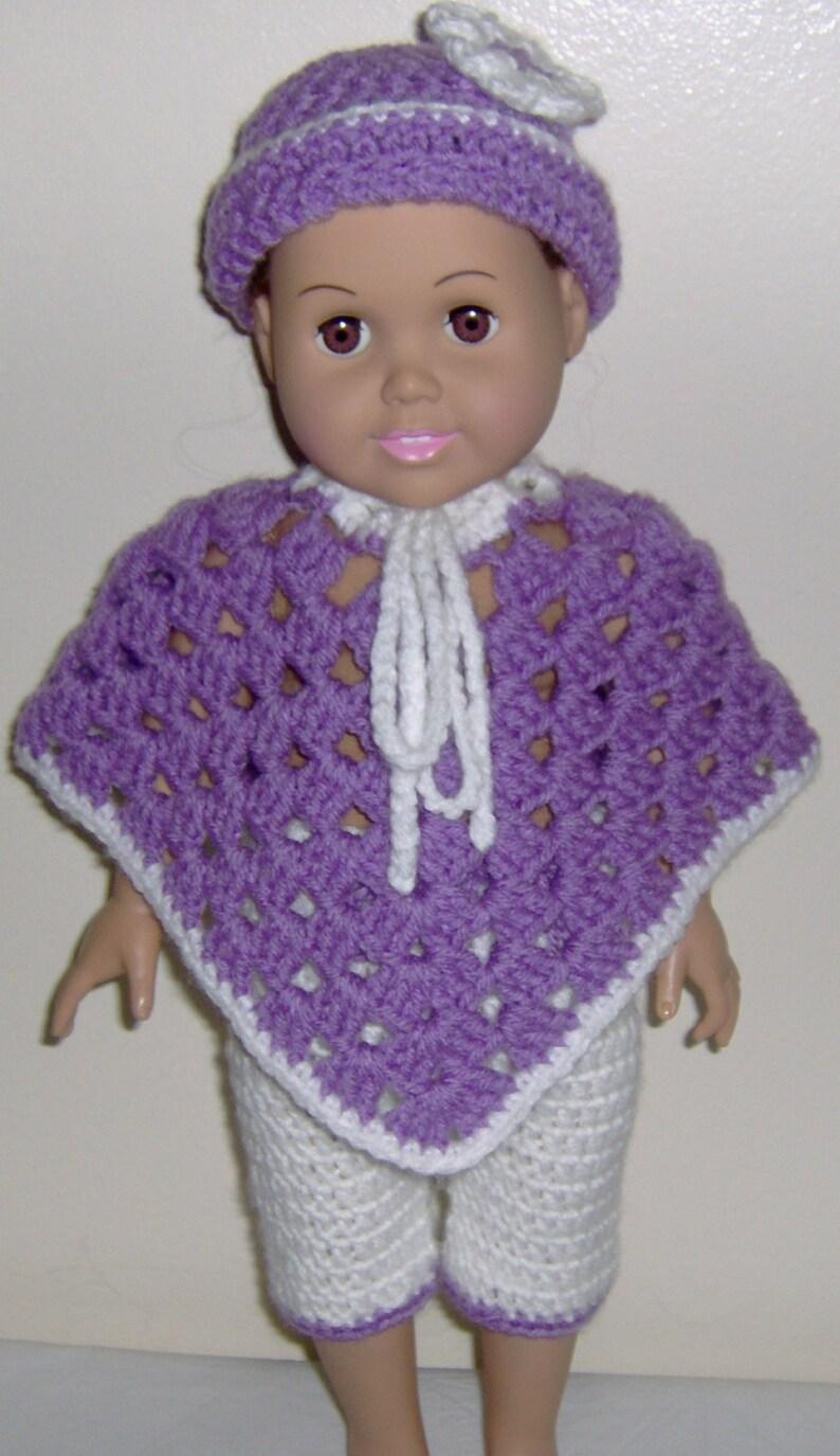 Poncho Alluncinetto Per American Girl Bambola Uncinetto 3 Etsy