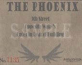 Speakeasy Card Printable Sign The Phoenix Prohibition Era Roaring 20s Style Art Deco Gatsby Party Wedding Centerpiece Bar Front Door Sign