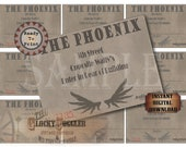 Speakeasy Table Card & Place Cards Set ~ JPG Digital Files ~ The Phoenix Prohibition Era Roaring 20s Gatsby Party Wedding ~ Member Names