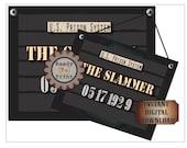 "Murder Mystery Suspect Line-up Poster ~ Police Sign Printable JPG ""The Slammer"" 1920s Mug Shot 2 Photo Booth Props Prohibition Speakeasy"