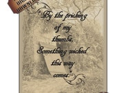 Wicked Open Tomb Printable Art Halloween Decor Shakespeare Quote Creepy Spooky Old Picture Something Wicked This Way Comes Black White Photo
