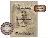 Open Tomb Printable Halloween Party Sign Shakespeare Quote Creepy Spooky Old Picture Something Wicked This Way Comes Black White Photo