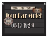 Iron Bar Motel Mug Shot Printable 1920s Police Line Up Sign Photo Booth Prop Prohibition Speakeasy Roaring 20s Gatsby Era Capone Arrest Date