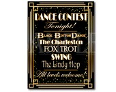 Prom Dance Contest Sign Set Art Deco Roaring 20s Printables The Charleston Fox Trot Black Bottom Dance Lindy Hop Swing Wedding Party Decor