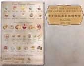 "Mini Patisserie Menu Dollhouse 1:12 Scale Bakery Printable 11X8.5"" JPG ~ Cupcakes, French Macarons, Paris-Brest, Fern Cake, Lebkuchen, Tarts"