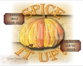 """Pumpkin """"Spice it up!"""" Sublimation & Cutting ~ 6X6"""" Files ~ svg, pdf, png, eps, dxf  Transfer Image Fall Autumn Halloween Thanksgiving Decor"""