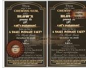 "SMALL PARTY Roaring 20s Slang Invitation JPG ~ Art Deco Black Gold White Open Face 5.5X8.25"" Digital File ~ Intimate Microwedding Invite"