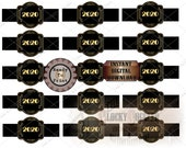 2020 CIGAR LABEL Printable JPG File Digital Download ~ Black Gold Roaring 20s 1920s Style Wraparound Tag New Year's Eve Party Decoration