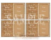 Cracked Leather SAVE THE DATE Printable Cards ~ Custom jpg Digital Download ~ Personalized & Photo ~ Old  Worn Hide Upholstery Image File