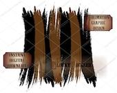 BRUSH STROKES Sublimation Background PNG File Transparent Back ~ Black Brown Transfer Image Design Effect ~ Digital Download Clip Art