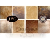 "Cigar Junk Journal Paper Wraps 2 JPGs ~ 8 Prohibition Speakeasy Party Aged Paper, Worn Faded Leather 4X4.5"" Images Fit Caramel Candy Rolls"