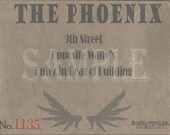 Speakeasy Card Printable Sign The Phoenix Prohibition Era Roaring 20s Style Art Deco Gatsby Party Wedding Centerpiece Bar Front Door Sign