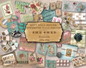 Dollhouse SHE SHED 1:12 Scale Decor 5 Printable 11X8.5 JPGs ~ Shabby Miniature Potting Shed, Sunroom, Soaping Room, Seed Packets, Art, Walls