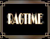 Ragtime Roaring 20s Printable Prohibition Era Art Deco Gatsby Party Gold Black White Wedding Speakeasy Themed Event Illuminate Sign
