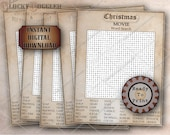 Christmas Movie WORD SEARCH Printable File Family Night Social Distancing Escape Room Game Aged Paper Puzzle 42 Items Narwhal, Soap, Gremlin
