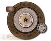 Secret Decoder Wheel Escape Room Printable Puzzle Cipher ~ 3 JPG Files ~ Alphabet 26 Number Detective Clue Aged Water Stained Paper Images