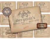 Speakeasy Table Card & Place Cards Set~ JPG Digital Files ~ Sergeant's Club Pass Prohibition Roaring 20s Gatsby Party Wedding~ Member Name