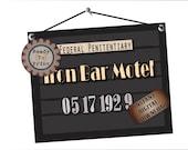 Mug Shot Printable Iron Bar Motel 1920s Police Line Up Sign Photo Booth Prop Prohibition Speakeasy Roaring 20s Gatsby Era Capone Arrest Date