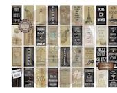 Prohibition Domino Tile Printable ~ Roaring 20s Jewelry ~ Party Wedding Favor Junk Journal Supply ~ Gatsby Era Art Deco ~ 1920s Paris, Jazz