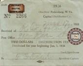 Bootlegger Dock Receipt Printable 1920s Ohio River Smuggler Prohibition Era Roaring 20s Style Art Deco Gatsby Party Wedding Bar Front Door