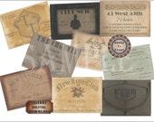 9 Speakeasy Cards Printable Members Only Passes Prohibition Roaring 20s Gatsby Wedding Favors ~ Showgirls Gentlemen's Club ~ Junk Journal