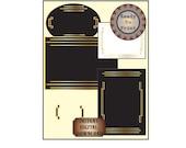 Roaring 20s Stationery Printable Set Prohibition Speakeasy Era Stationery Digital Embellishments Blank Note Cards Art Deco Decorations